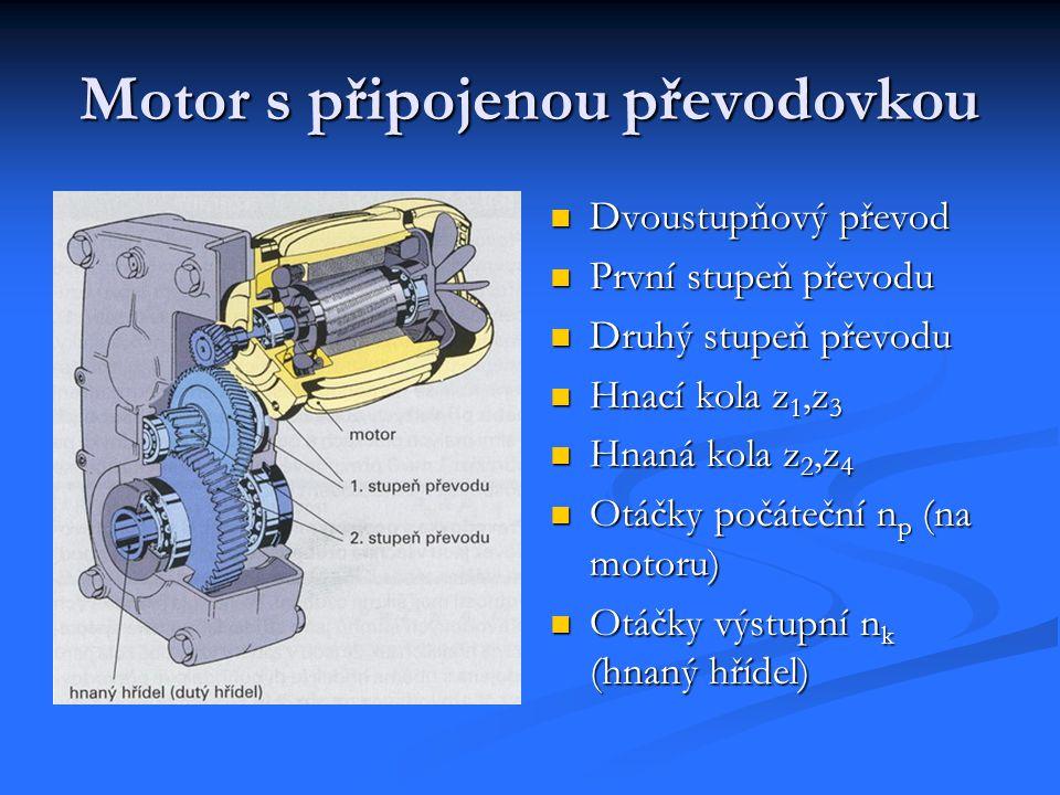 Motor s připojenou převodovkou