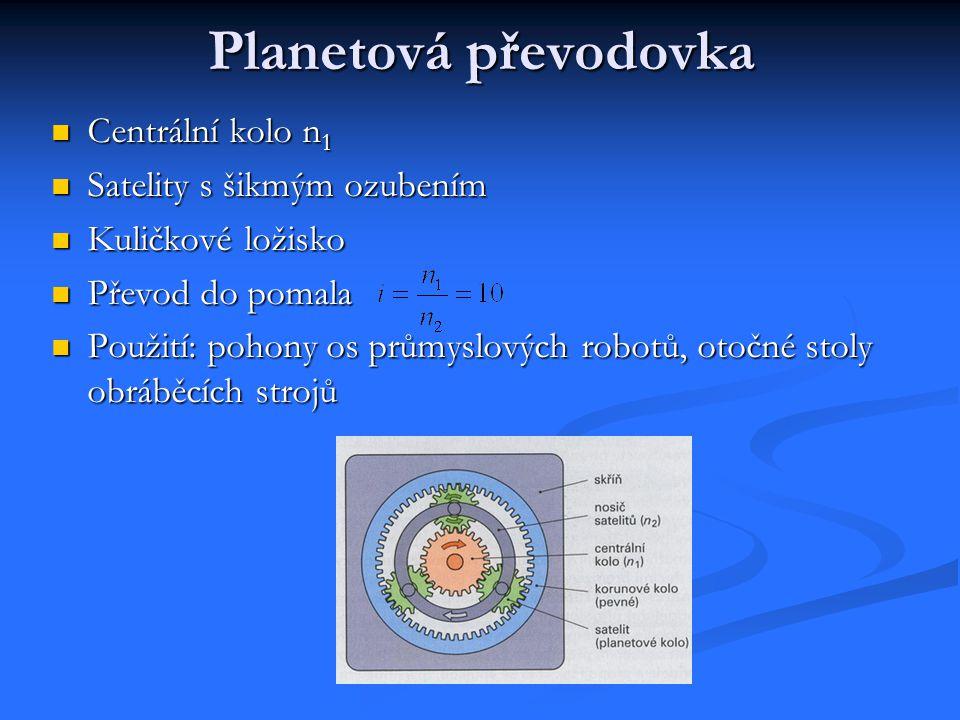 Planetová převodovka Centrální kolo n1 Satelity s šikmým ozubením