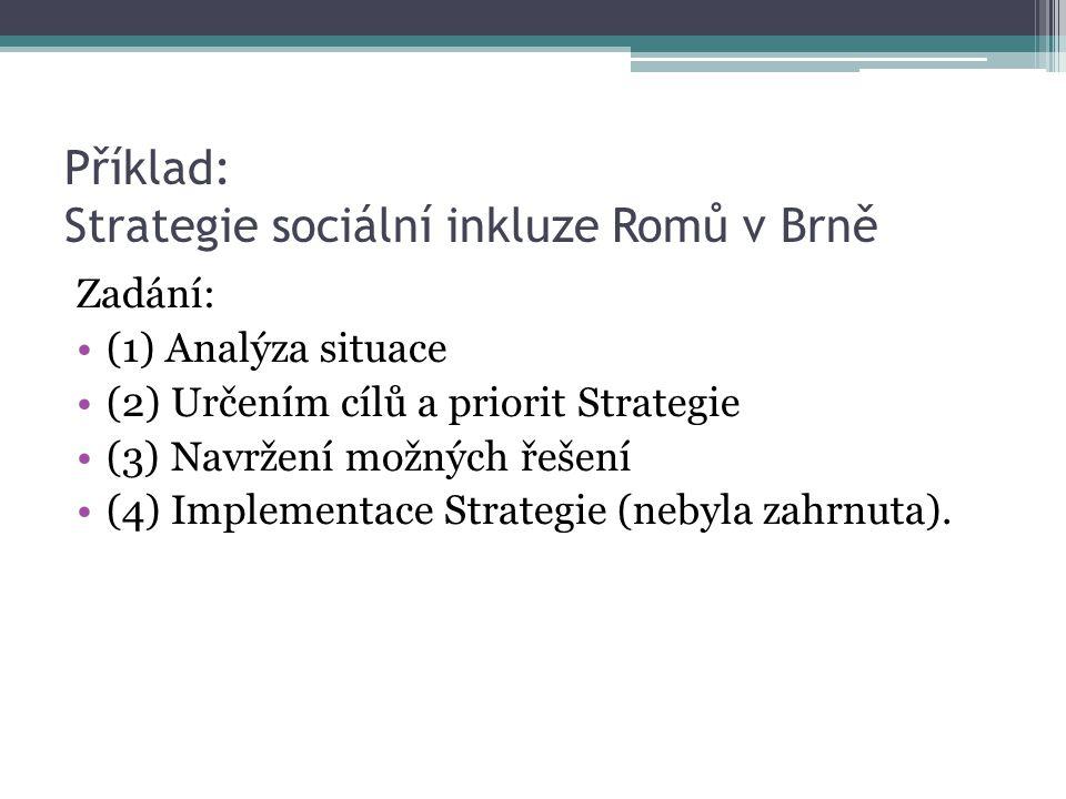 Příklad: Strategie sociální inkluze Romů v Brně