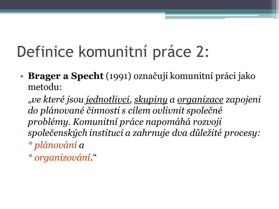 Definice komunitní práce 2: