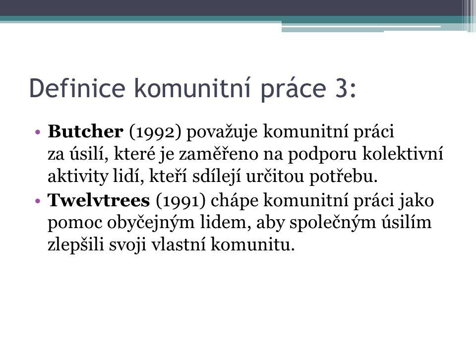 Definice komunitní práce 3: