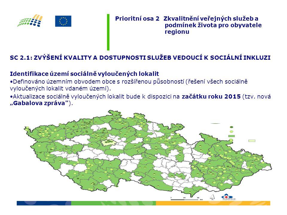 Prioritní osa 2 Zkvalitnění veřejných služeb a