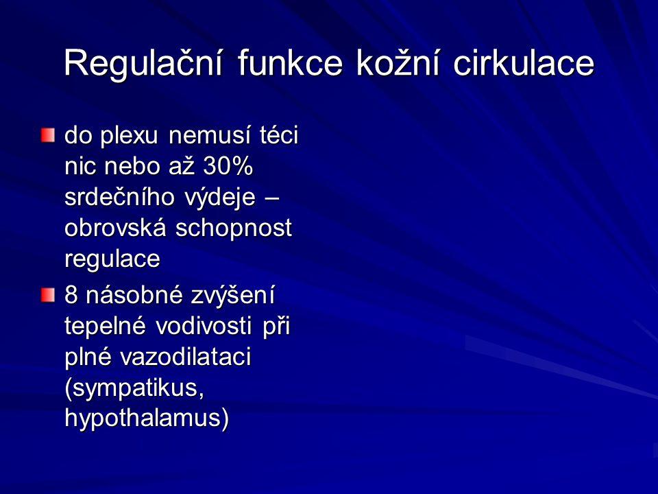 Regulační funkce kožní cirkulace