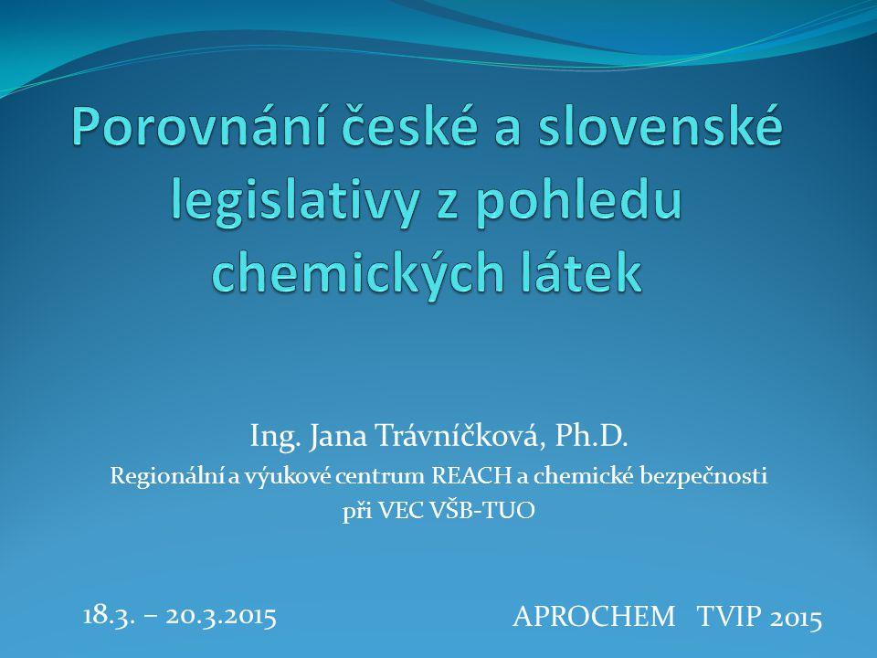 Porovnání české a slovenské legislativy z pohledu chemických látek