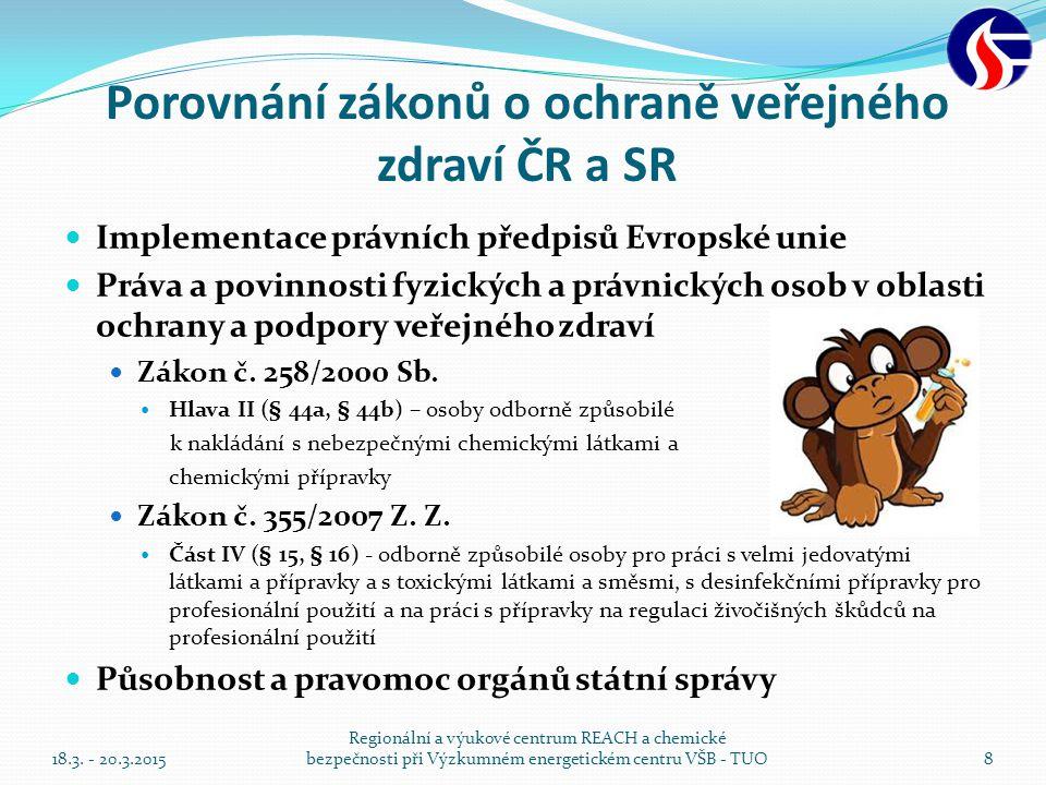 Porovnání zákonů o ochraně veřejného zdraví ČR a SR
