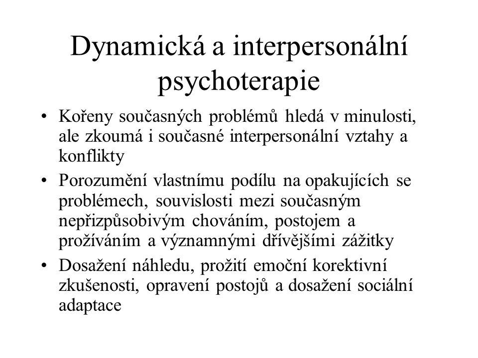 Dynamická a interpersonální psychoterapie