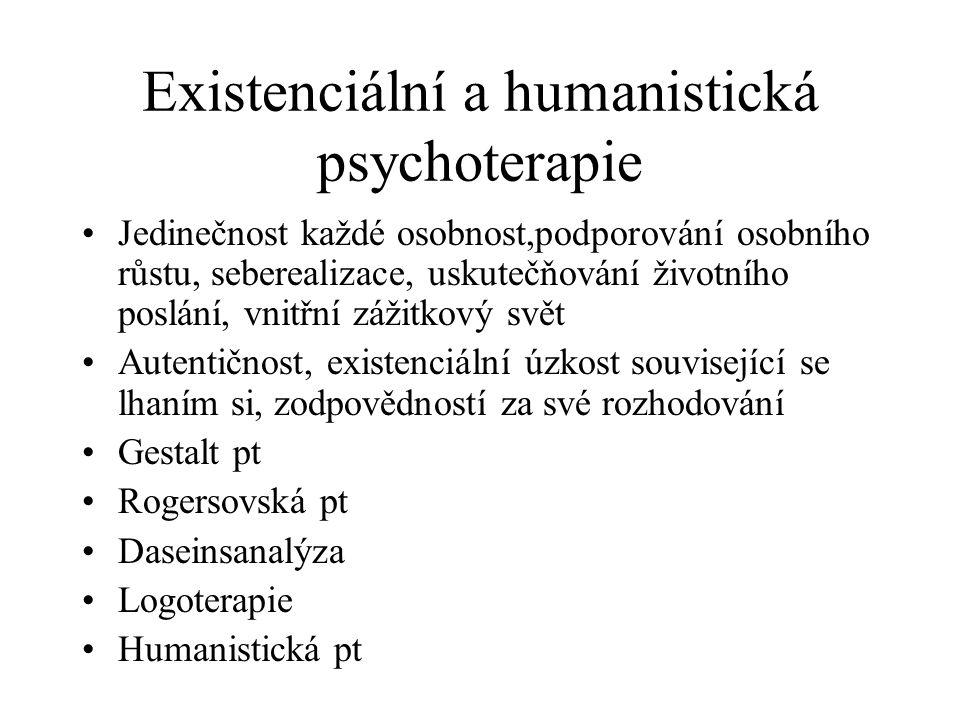 Existenciální a humanistická psychoterapie
