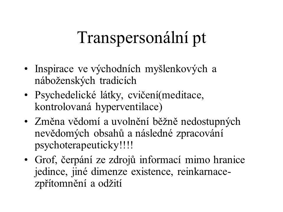 Transpersonální pt Inspirace ve východních myšlenkových a náboženských tradicích.