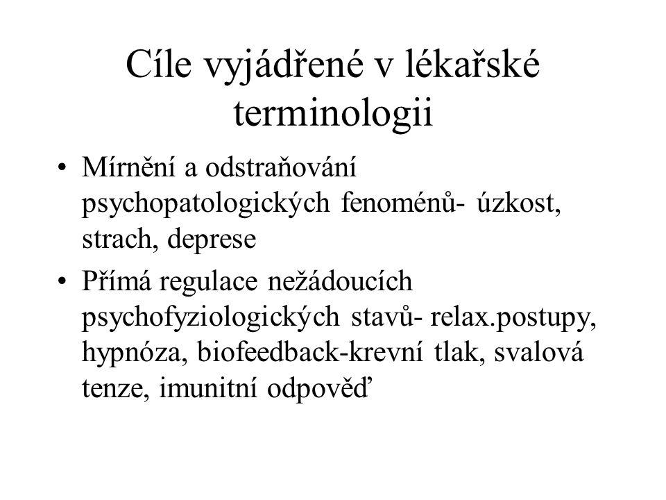 Cíle vyjádřené v lékařské terminologii