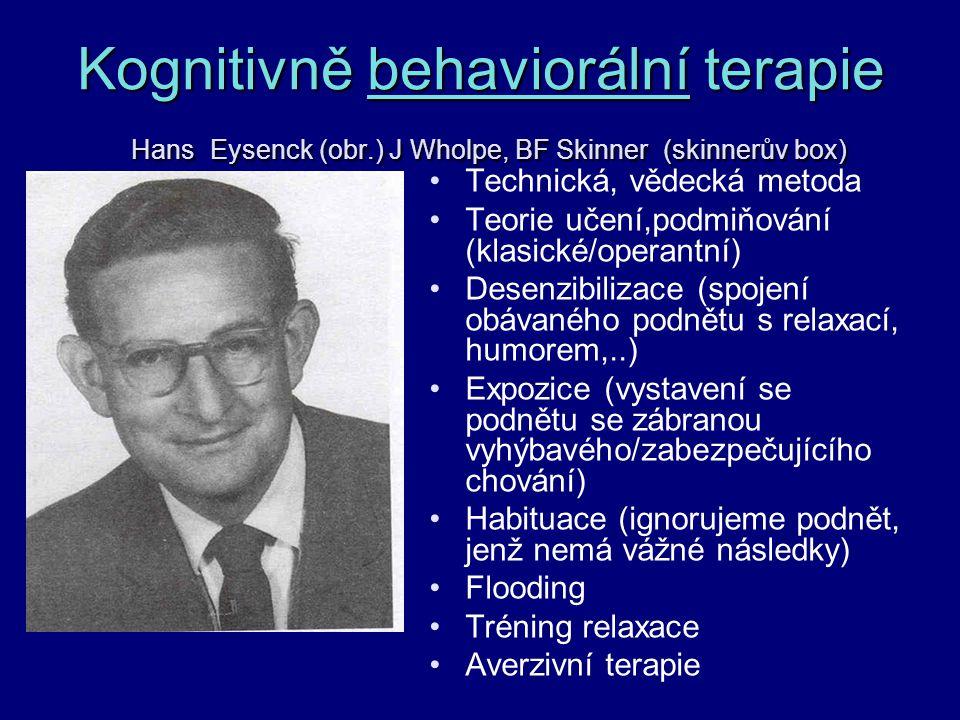 Kognitivně behaviorální terapie Hans Eysenck (obr