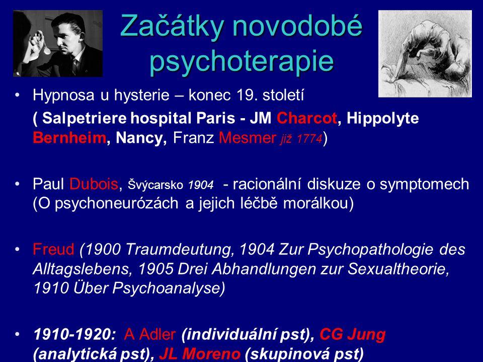 Začátky novodobé psychoterapie