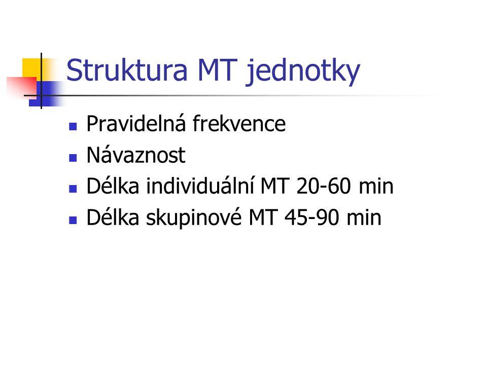Struktura MT jednotky Pravidelná frekvence Návaznost