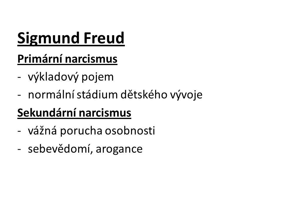 Sigmund Freud Primární narcismus výkladový pojem
