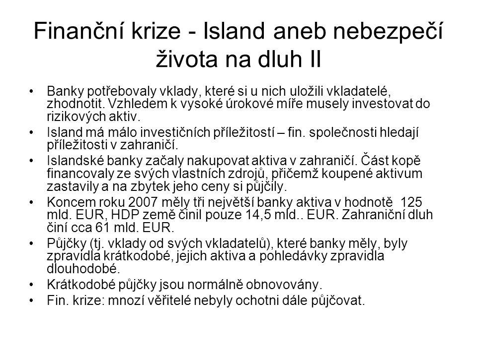 Finanční krize - Island aneb nebezpečí života na dluh II