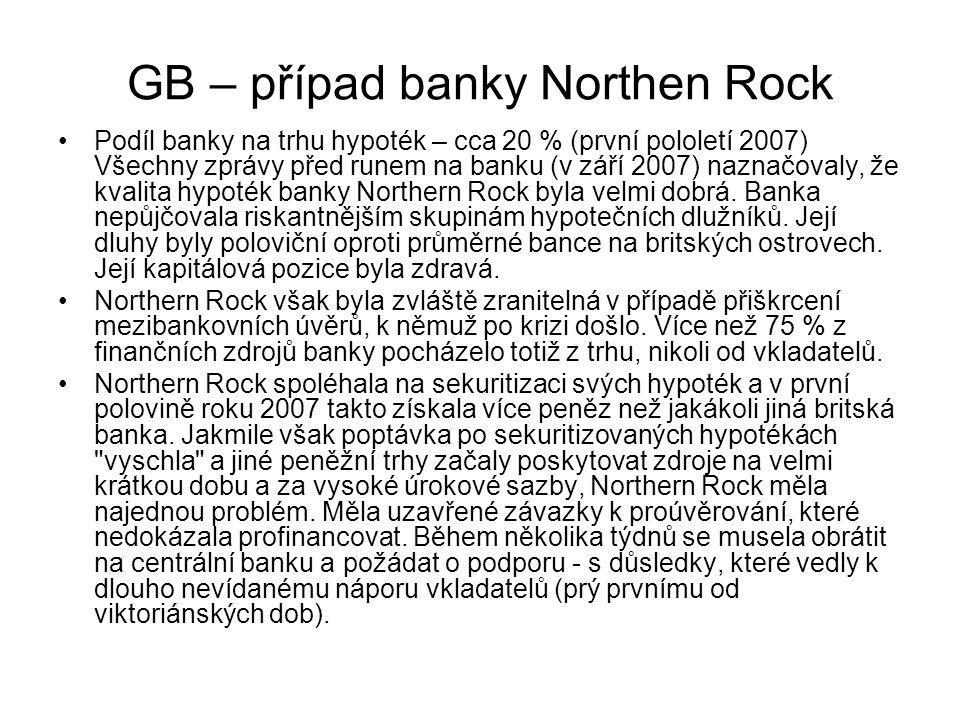 GB – případ banky Northen Rock