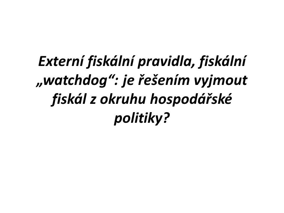 """Externí fiskální pravidla, fiskální """"watchdog : je řešením vyjmout fiskál z okruhu hospodářské politiky"""