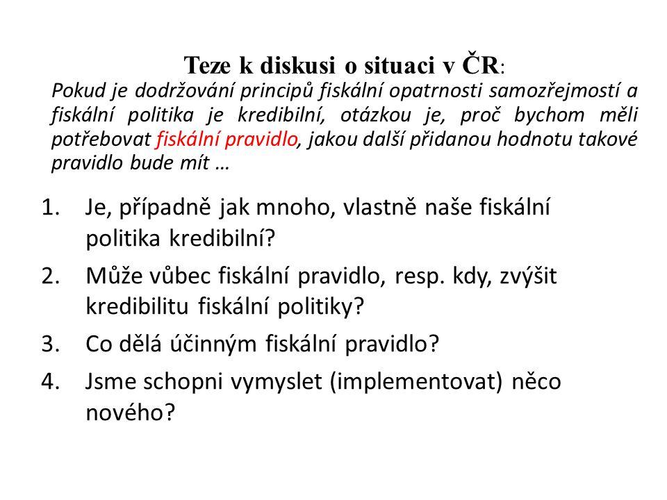 Teze k diskusi o situaci v ČR: