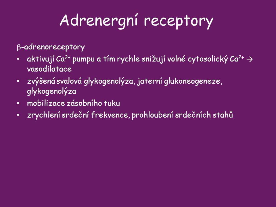 Adrenergní receptory b-adrenoreceptory