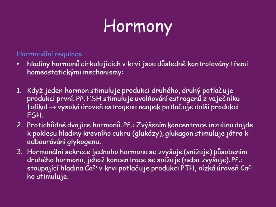 Hormony Hormonální regulace