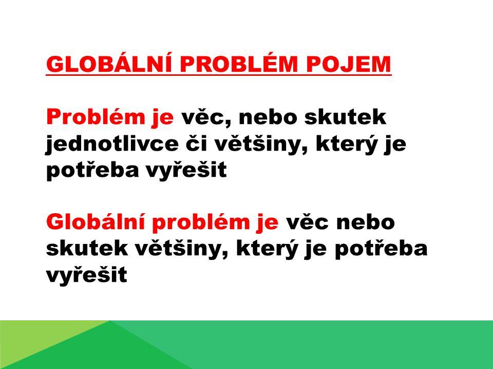GLOBÁLNÍ PROBLÉM POJEM