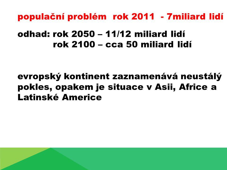 populační problém rok 2011 - 7miliard lidí