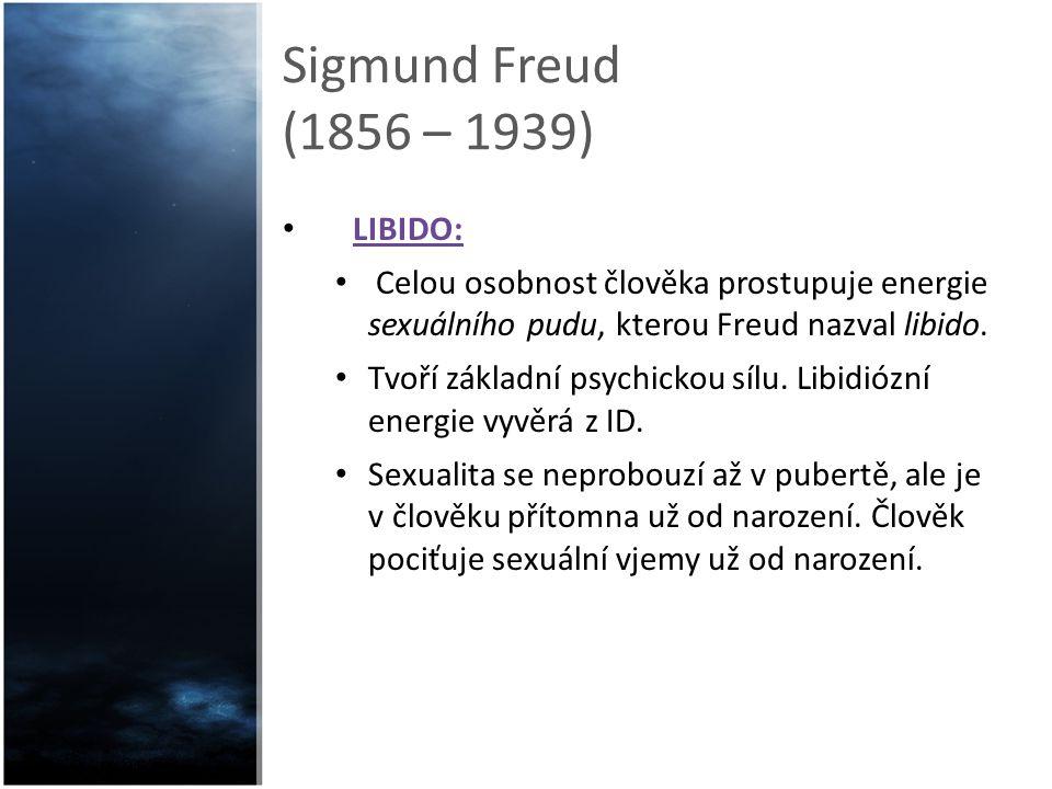 Sigmund Freud (1856 – 1939) LIBIDO: