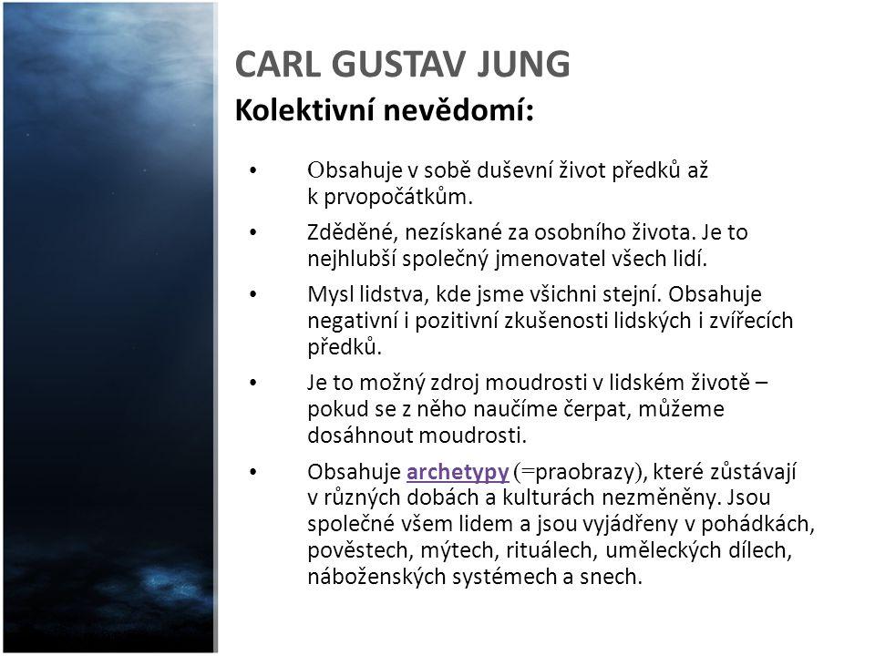 CARL GUSTAV JUNG Kolektivní nevědomí:
