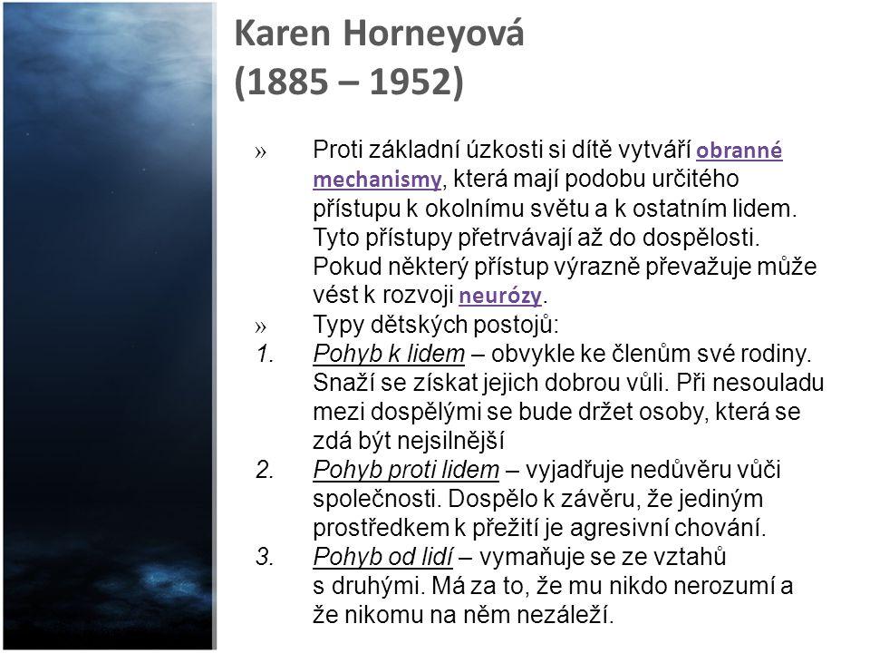 Karen Horneyová (1885 – 1952)