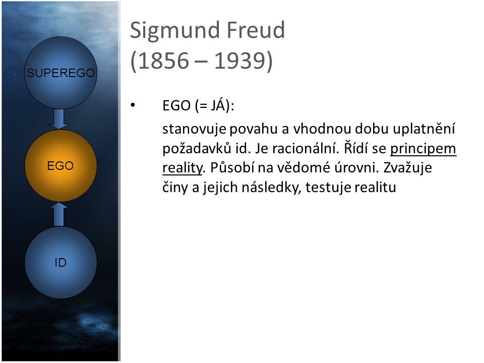 Sigmund Freud (1856 – 1939) EGO (= JÁ):
