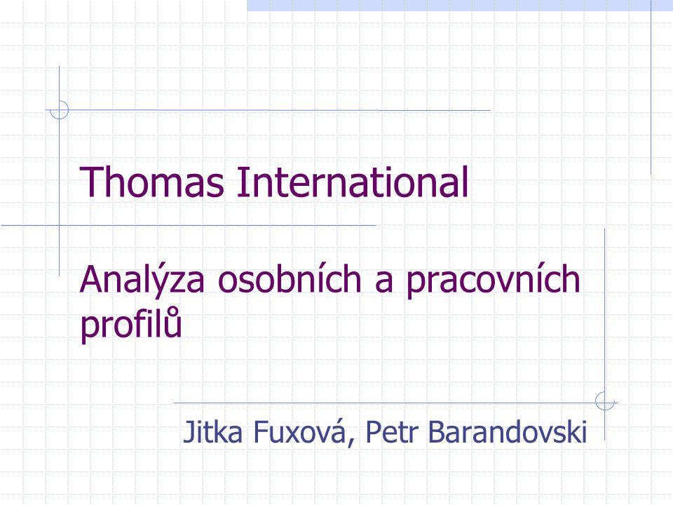 Thomas International Analýza osobních a pracovních profilů