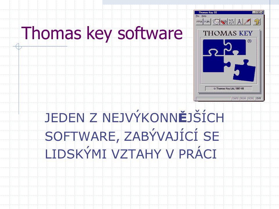 Thomas key software JEDEN Z NEJVÝKONNĚJŠÍCH SOFTWARE, ZABÝVAJÍCÍ SE
