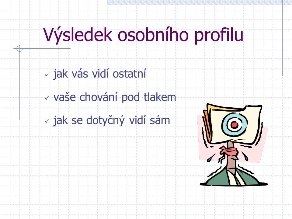 Výsledek osobního profilu