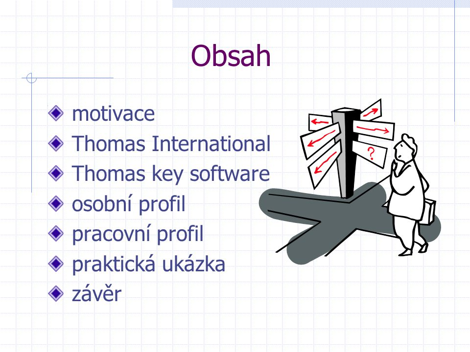 Obsah motivace Thomas International Thomas key software osobní profil