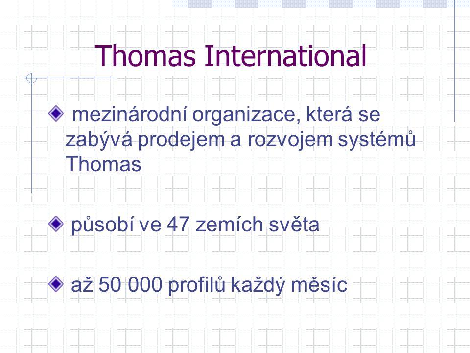 Thomas International mezinárodní organizace, která se zabývá prodejem a rozvojem systémů Thomas. působí ve 47 zemích světa.