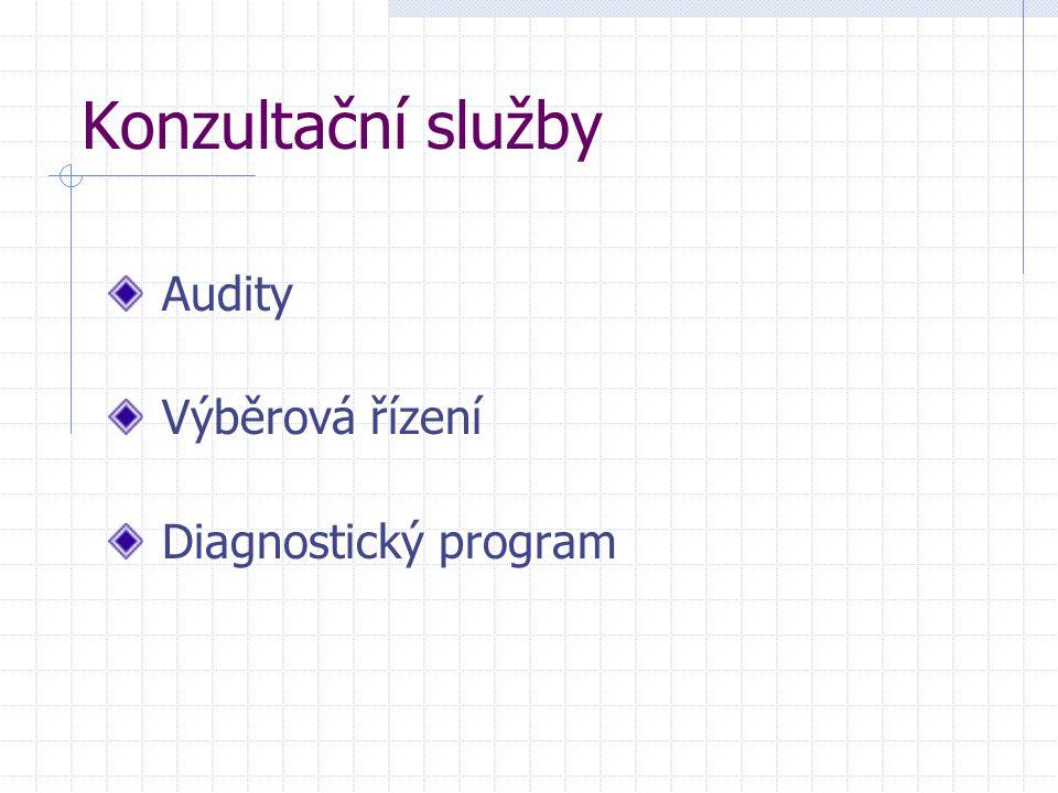 Konzultační služby Audity Výběrová řízení Diagnostický program