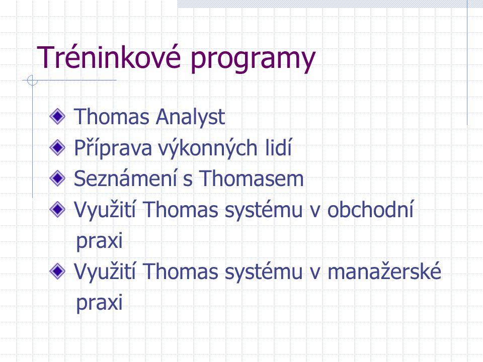 Tréninkové programy Thomas Analyst Příprava výkonných lidí