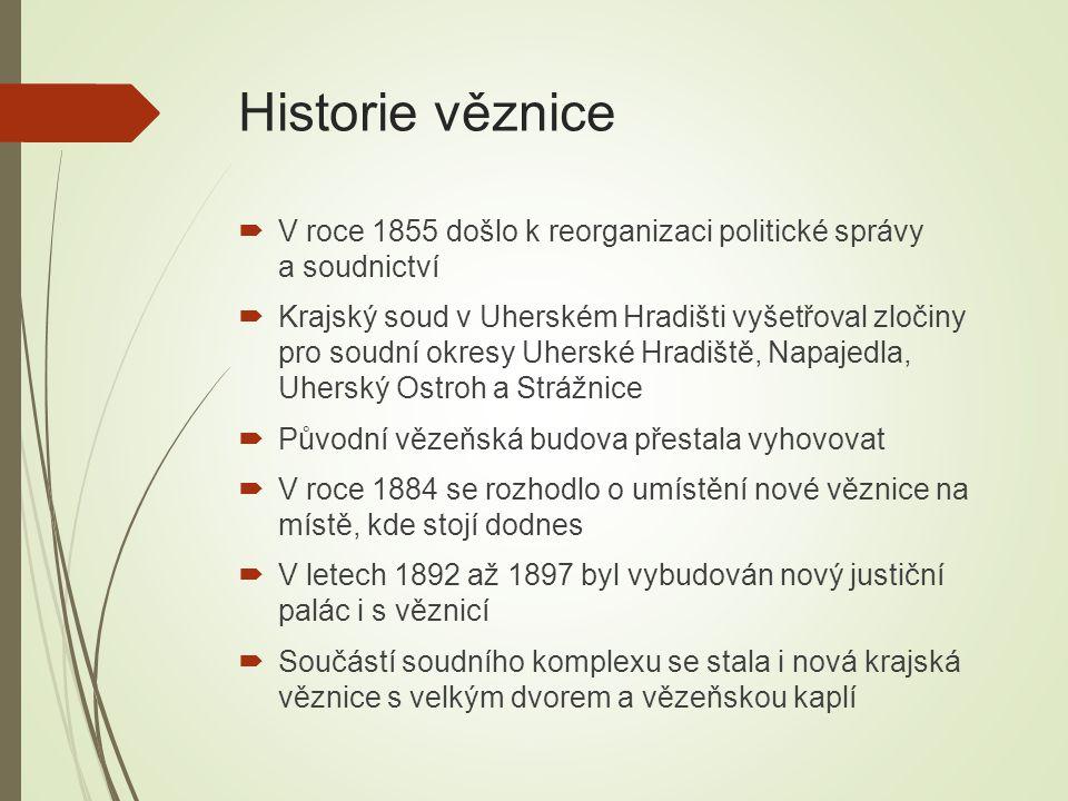 Historie věznice V roce 1855 došlo k reorganizaci politické správy a soudnictví.