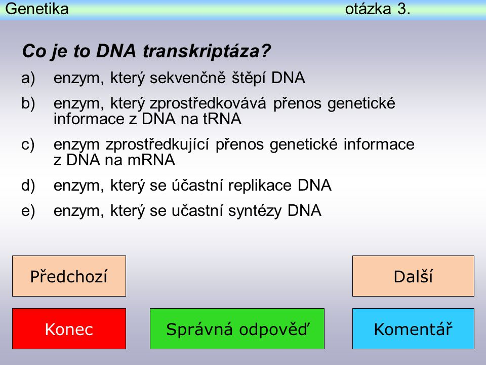 Co je to DNA transkriptáza