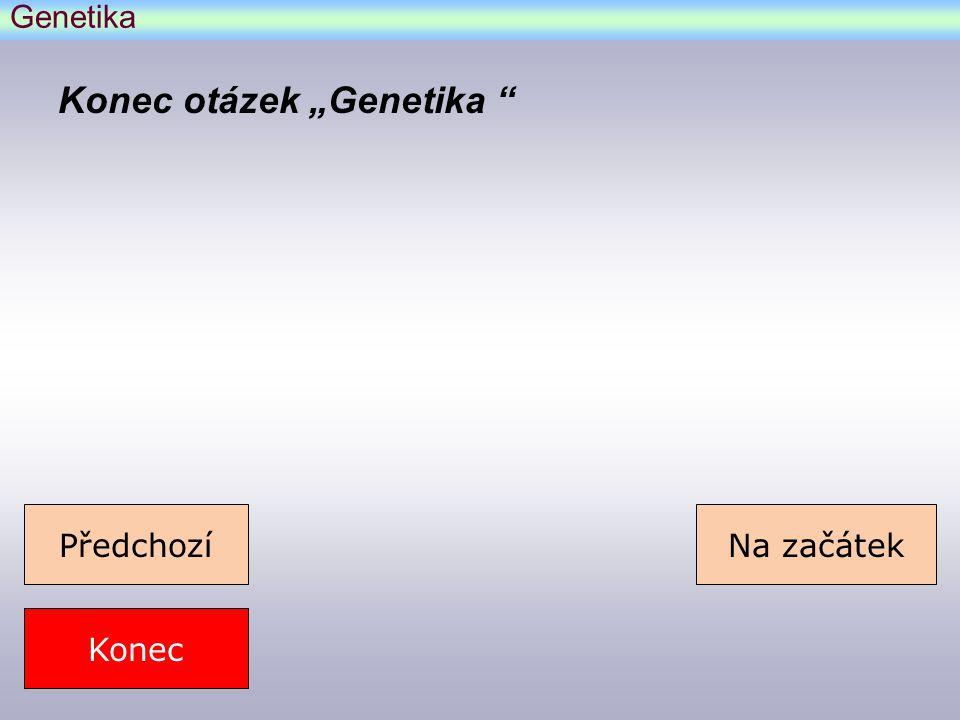 """Konec otázek """"Genetika"""