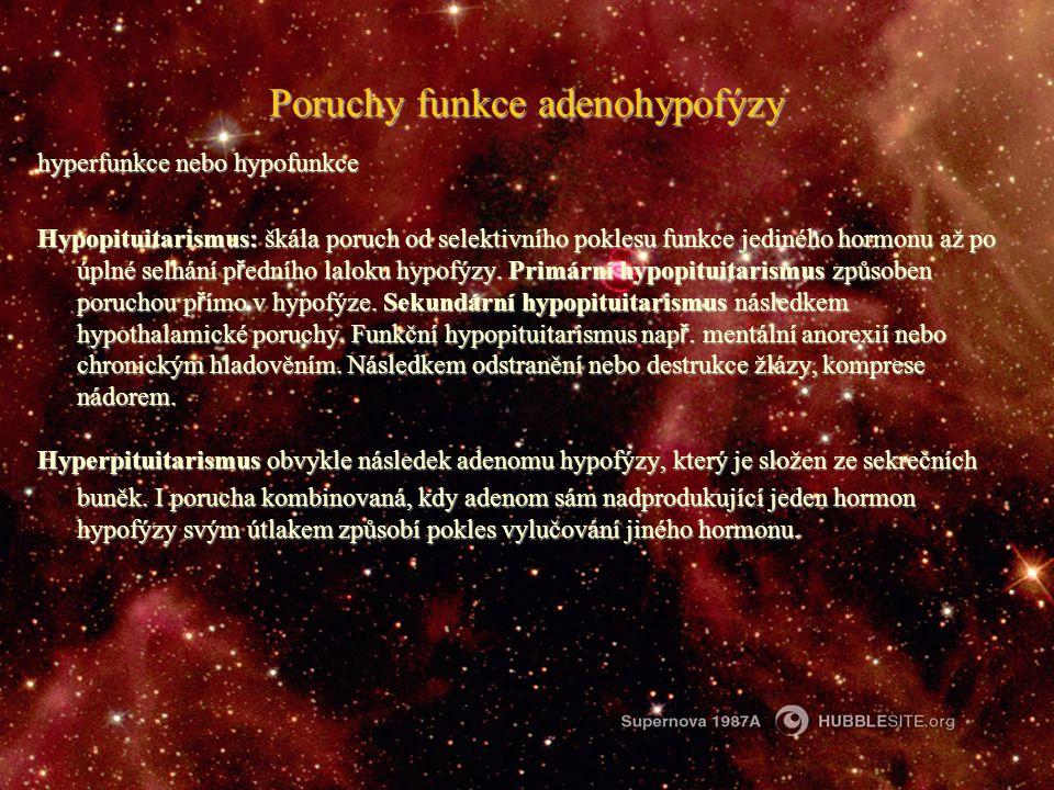 Poruchy funkce adenohypofýzy