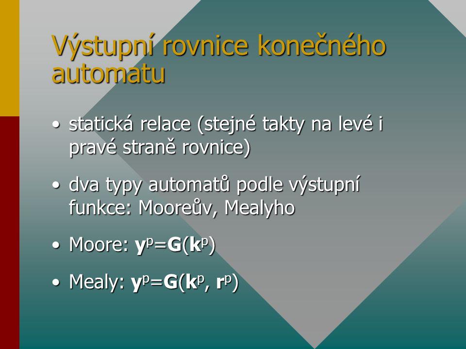 Výstupní rovnice konečného automatu