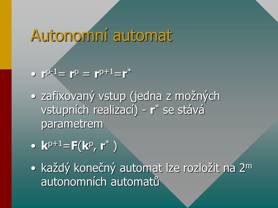 Autonomní automat rp-1= rp = rp+1=r*