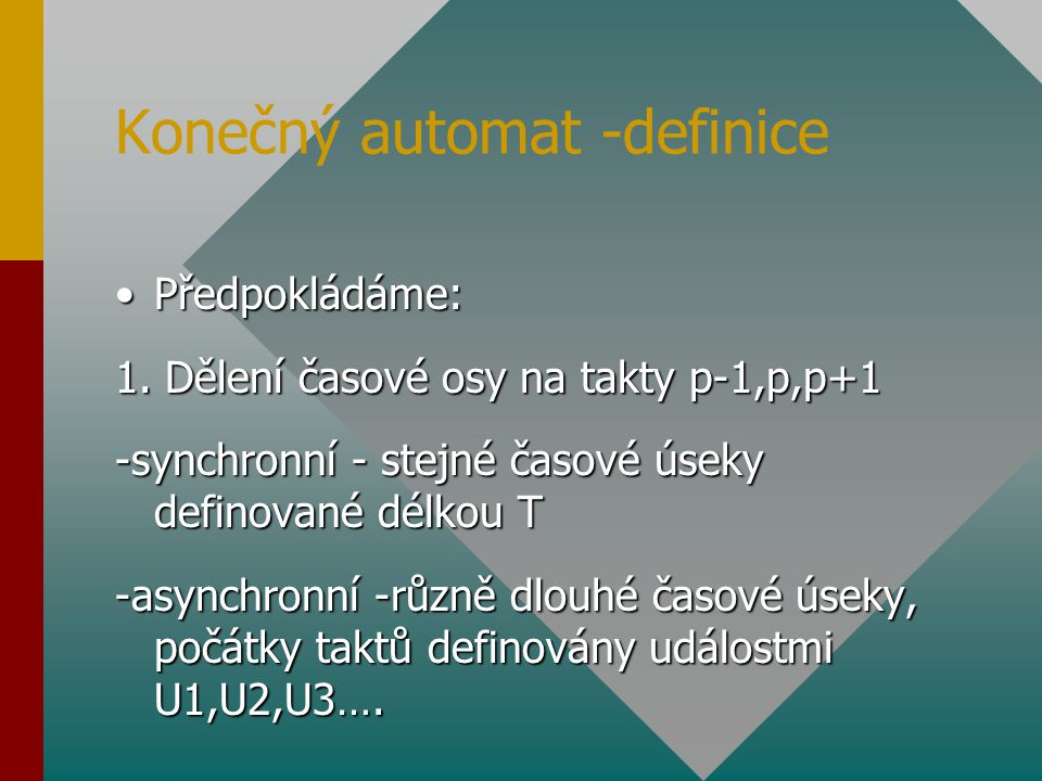 Konečný automat -definice