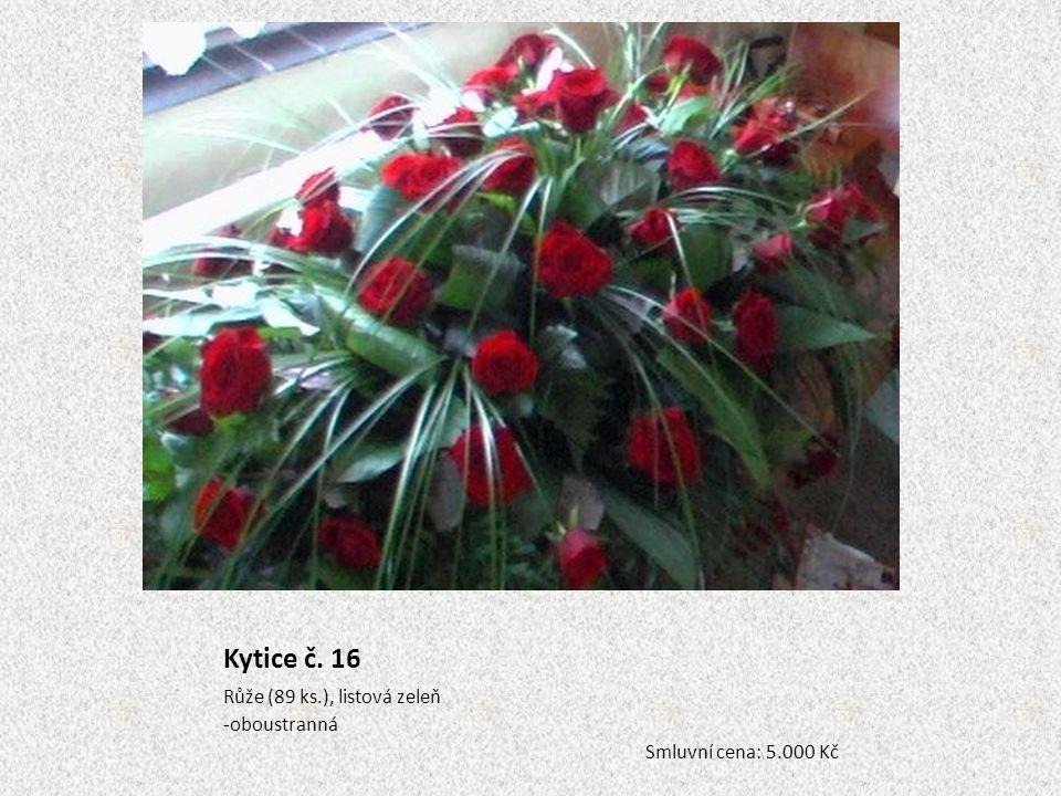 Kytice č. 16 Růže (89 ks.), listová zeleň oboustranná