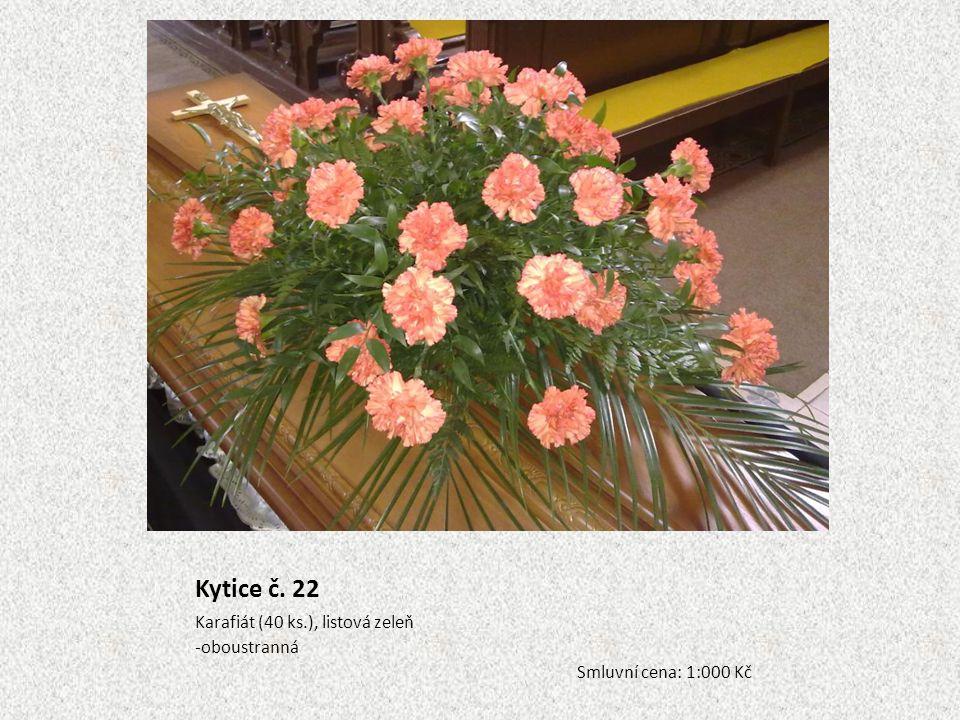 Kytice č. 22 Karafiát (40 ks.), listová zeleň oboustranná