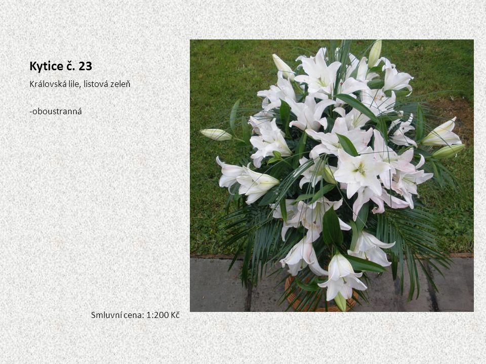 Kytice č. 23 Královská lile, listová zeleň oboustranná