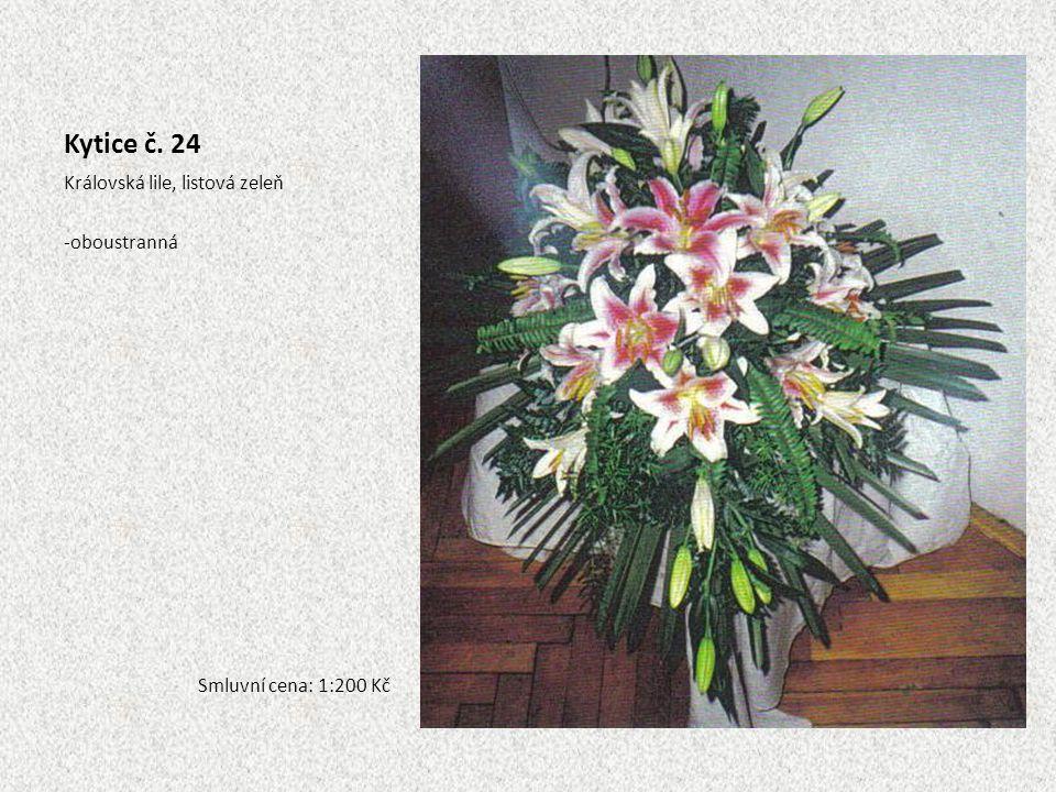 Kytice č. 24 Královská lile, listová zeleň oboustranná