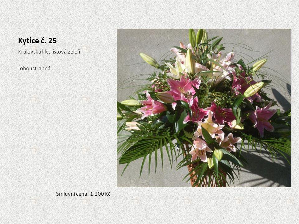 Kytice č. 25 Královská lile, listová zeleň oboustranná