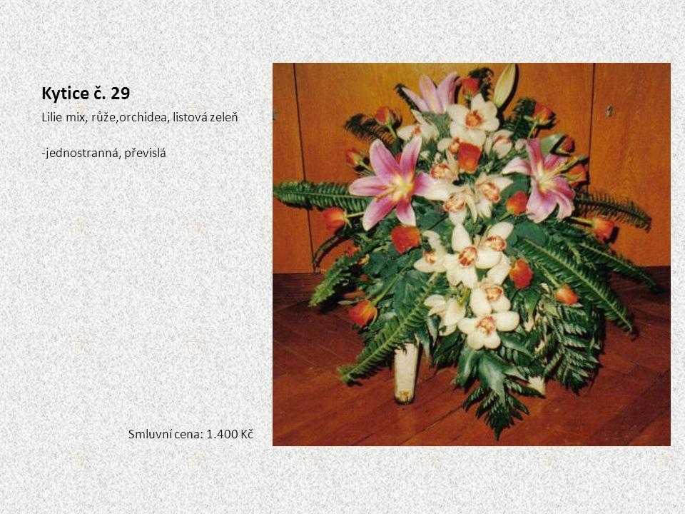 Kytice č. 29 Lilie mix, růže,orchidea, listová zeleň