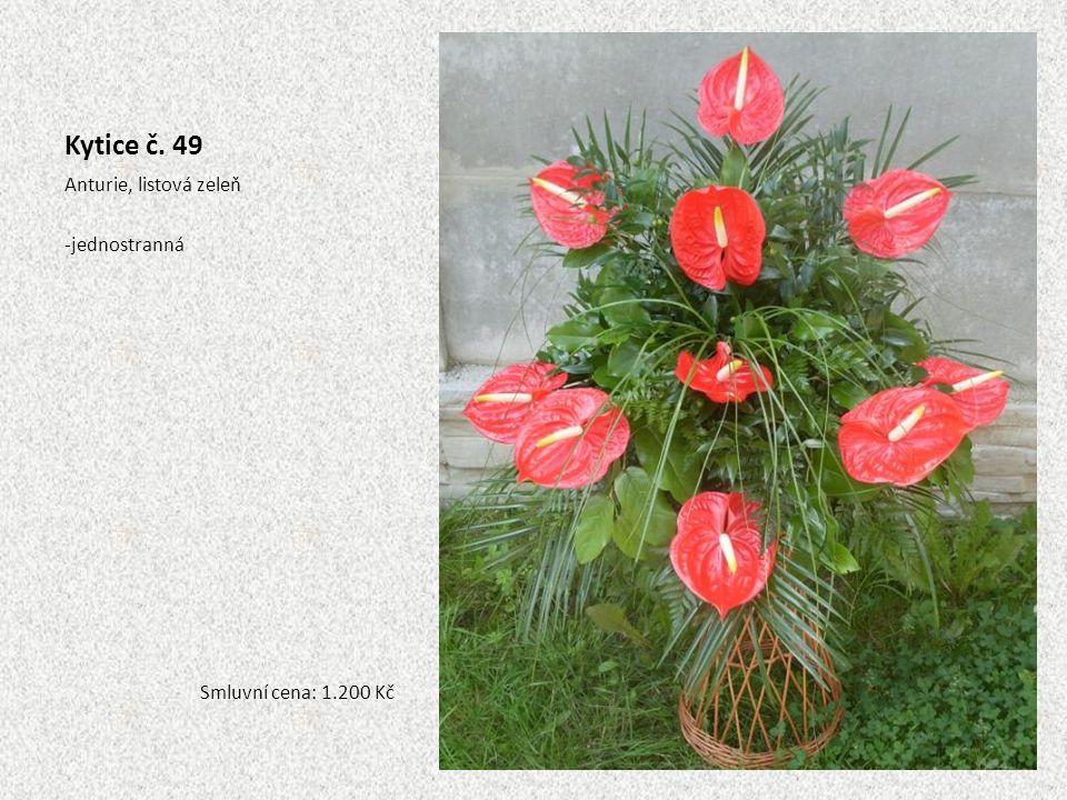 Kytice č. 49 Anturie, listová zeleň jednostranná
